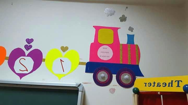 Preschool Wall Decoration Pertaining To Widely Used Kindergarten Wall Decoration Preschool Wall Decoration Train Wall (View 11 of 15)