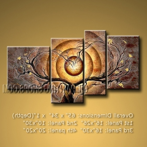 Primitive Large 4 Panels Wall Art Decorating Ideas Contemporary Tree Within Fashionable Primitive Wall Art (View 6 of 15)