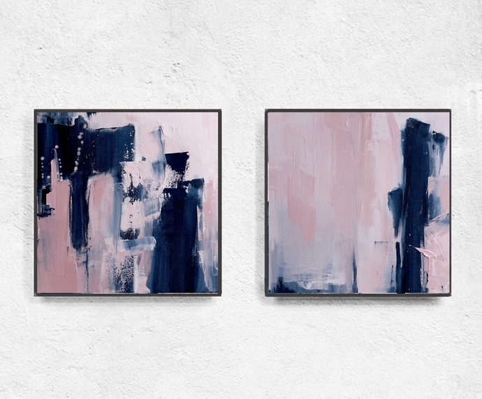Print, Contemporary Art, Home Decor, Wall Artsemelart On Zibbet Intended For Widely Used Pink Abstract Wall Art (View 8 of 15)