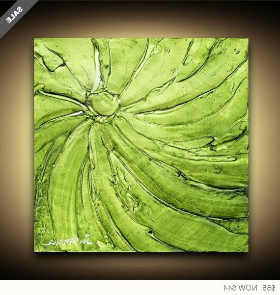 Print On Canvas Abstract Apple Lime Green Art Home Decor Wall Art Inside 2018 Lime Green Abstract Wall Art (View 13 of 15)