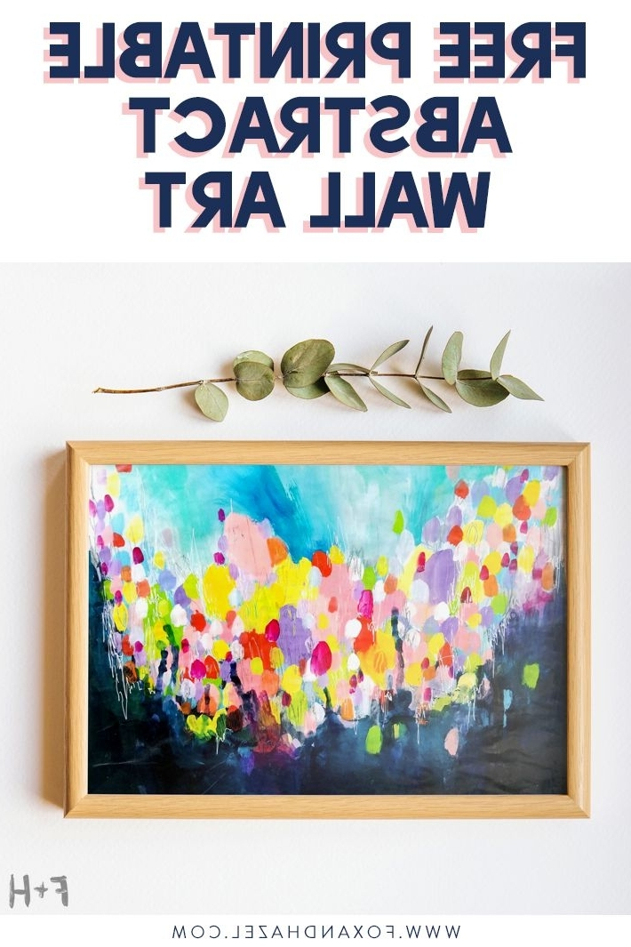 Printable Abstract Wall Art With Regard To Favorite Free Printable Abstract Wall Art (View 11 of 15)