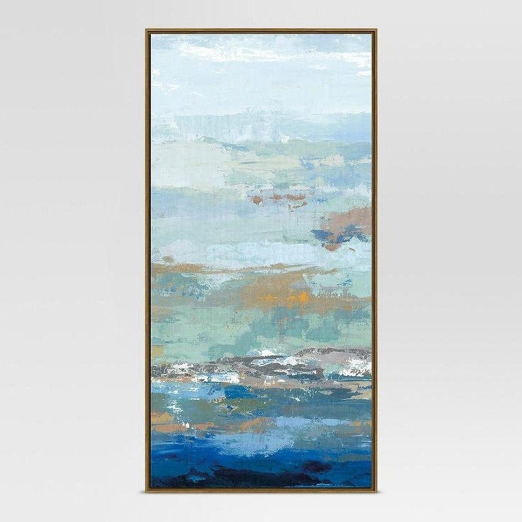 Project 62 Blue Embellished Abstract Wall Art With Famous Blue Canvas Abstract Wall Art (View 10 of 15)