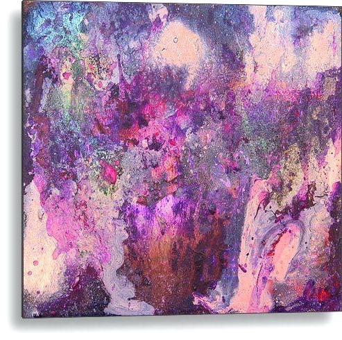 Purple And Grey Abstract Wall Art Intended For Fashionable Purple And Turquoise Wall Art Turquoise And Silver Wall Art Grey (View 9 of 15)