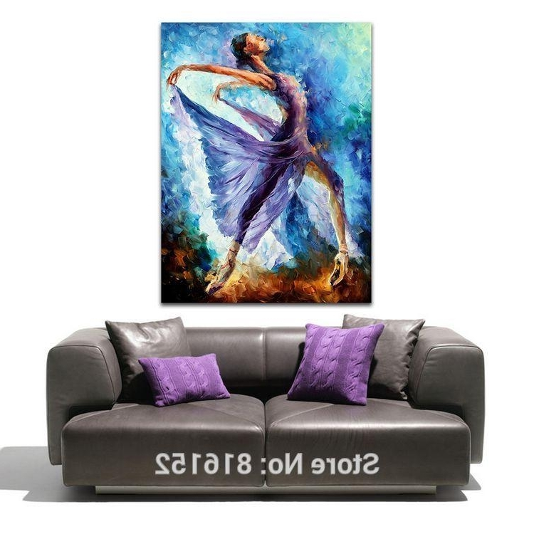 Purple Dress Girl Butterfly Dance Abstract Figure Palette Knife Oil In Well Liked Abstract Body Wall Art (View 12 of 15)
