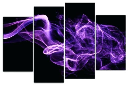 Purple Wall Art Canvas Dark Purple Wall Art Purple Smoke On Black Throughout Fashionable Purple Abstract Wall Art (View 8 of 15)