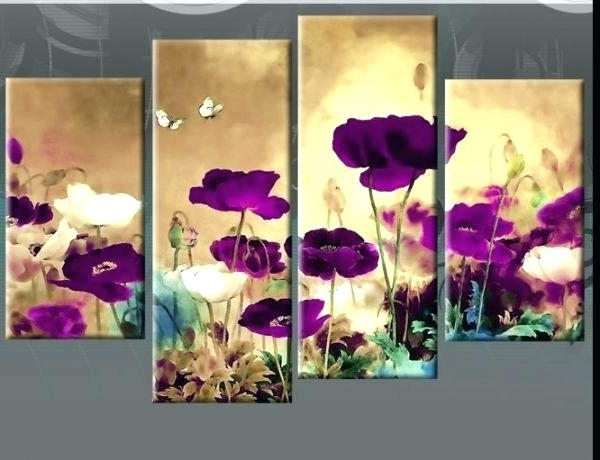 Purple Wall Art Canvas Purple Wall Art Plum Purple Floral Canvas With Regard To Newest Plum Coloured Wall Art (View 12 of 15)