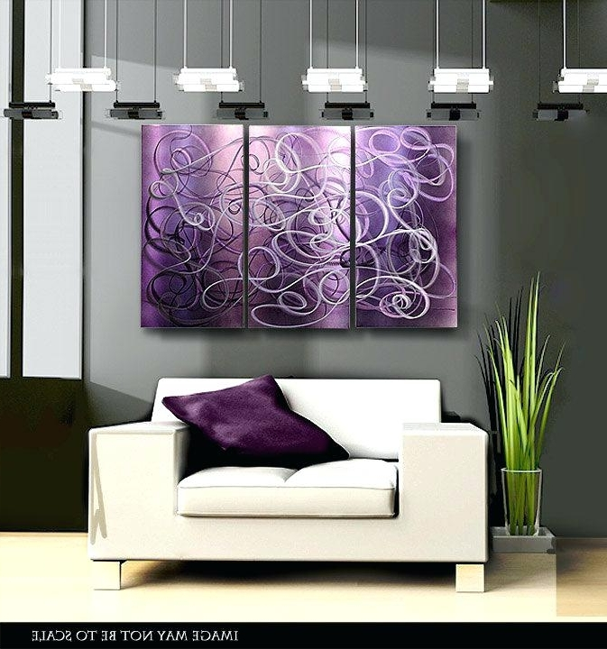 Purple Wall Decor Purple Abstract Metal Wall Art Modern Metal Pertaining To Widely Used Purple Abstract Wall Art (View 13 of 15)