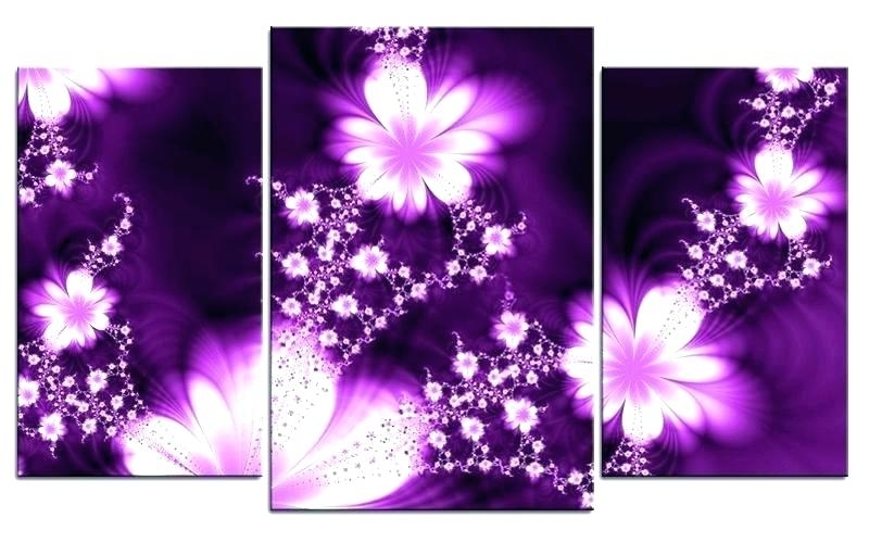 Purple Wall Decor Purple Wall Decor Purple Wall Decor Purple Wall For Current Plum Coloured Wall Art (View 3 of 15)