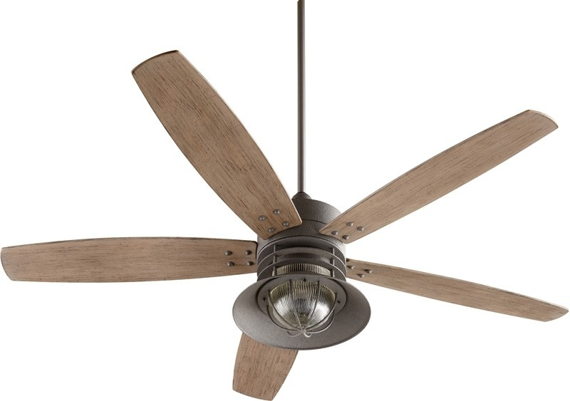Quorum 14605 17 Portico 60 Inch Zinc Ceiling Fan With Light In Most Current Quorum Outdoor Ceiling Fans (Gallery 6 of 15)