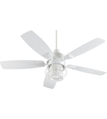 Quorum Outdoor Ceiling Fans With Regard To Famous Quorum 13525 8 Galveston 52 Inch Studio White Outdoor Ceiling Fan (View 9 of 15)