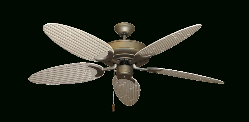 "Raindance Ceiling Fan In Antique Bronze With 52"" Outdoor Bamboo In Trendy Outdoor Ceiling Fans With Bamboo Blades (View 3 of 15)"