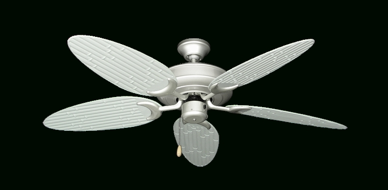 "Raindance Ceiling Fan In Brushed Nickel With 52"" Outdoor Bamboo Pure In Most Recent Outdoor Ceiling Fans With Bamboo Blades (View 6 of 15)"