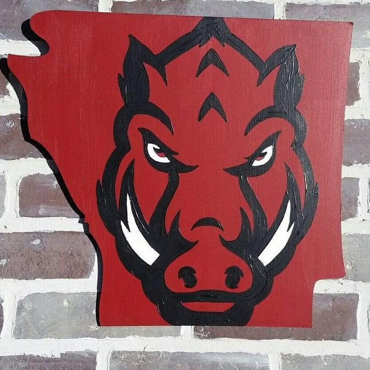Razorback Wall Art For Most Popular 328 Best Arkansas Woo Pig Sooieeee Images On Pinterest Razorback (View 10 of 15)