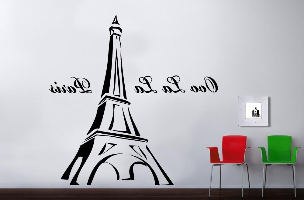 Realvalue – Pertaining To Paris Vinyl Wall Art (View 2 of 15)