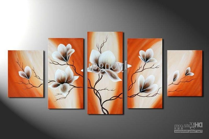 Recent 2018 Hand Painted Hi Q Modern Wall Art Home Decorative Abstract Regarding Abstract Orange Wall Art (View 1 of 15)