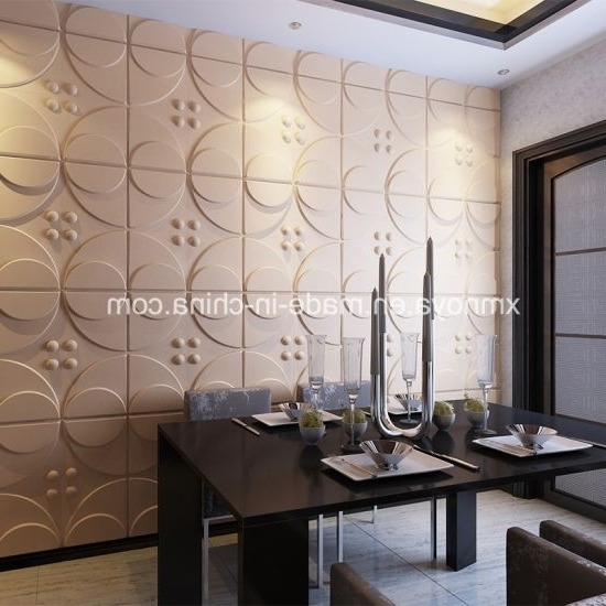 Recent 3D Plastic Wall Panels Intended For China Design Acoustic Fireproof 3D Pvc Wall Panels For Building (View 13 of 15)