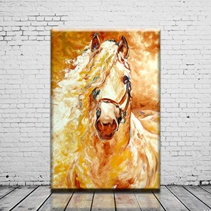 Recent Abstract Horse Wall Art Regarding Amazon: Abstract Horse Head Oil Painting Print On Canvas For (View 12 of 15)