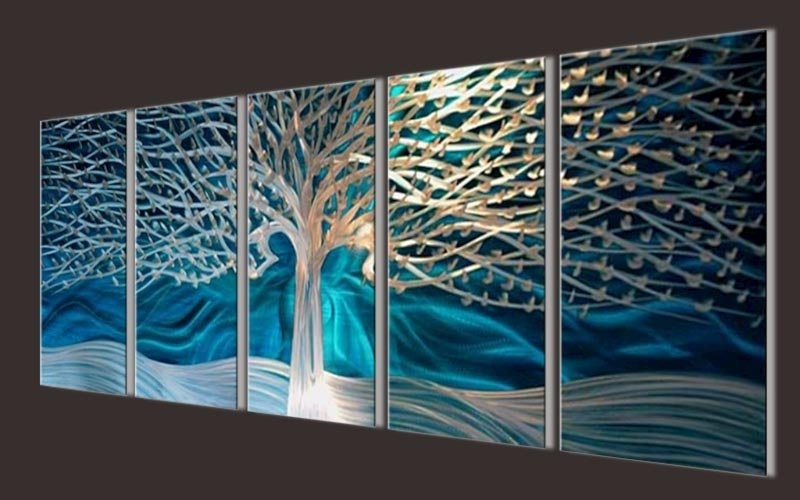 Recent Abstract Metal Wall Art Painting Inside Abstract Metal Wall Art Sculpture – Elitflat (View 6 of 15)