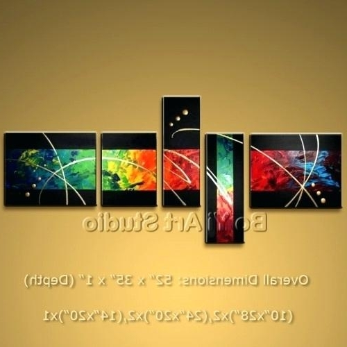 Recent Abstract Paintings On Canvas Gorgeous Colorful Abstract Modern Oil Throughout Modern Abstract Oil Painting Wall Art (View 11 of 15)