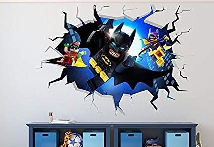 Recent Amazon: Lego Batman Smashed 3D Wall Decal Kids Sticker Art Decor Intended For Batman 3D Wall Art (View 13 of 15)