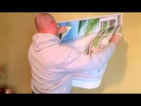 Recent Beach Palm 3D Removable Wall Decals Stickers Posters Window Vinyl Regarding 3D Wall Art Window (View 11 of 15)