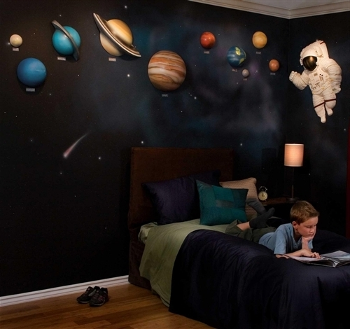 Recent Beetling Solar System With Space Astronaut 3D Wall Art Decor Pertaining To Solar System Wall Art (View 7 of 15)