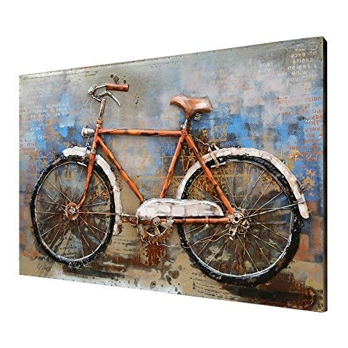Recent Bicycle Art Metal: Amazon For Bicycle Metal Wall Art (View 7 of 15)