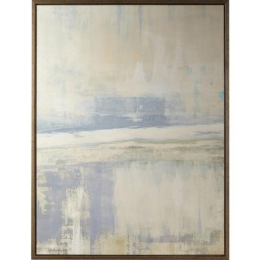 Recent Blue And Cream Wall Art Regarding Foggy Morning Abstract Wall Canvas Art (View 6 of 15)