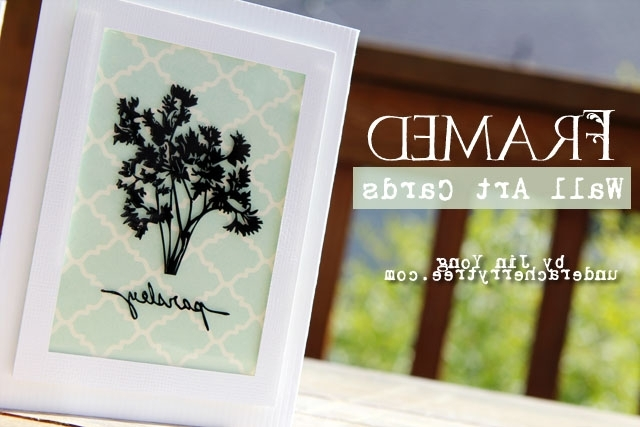 Recent Cameo Wall Art Within Under A Cherry Tree: Tutorial: How To Make Framed Wall Art Cards (View 15 of 15)