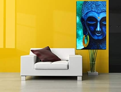 Recent Canvas Buddha Art, Digital Print On Canvas, Portrait, Abstract Art Within Abstract Art Wall Hangings (View 12 of 15)