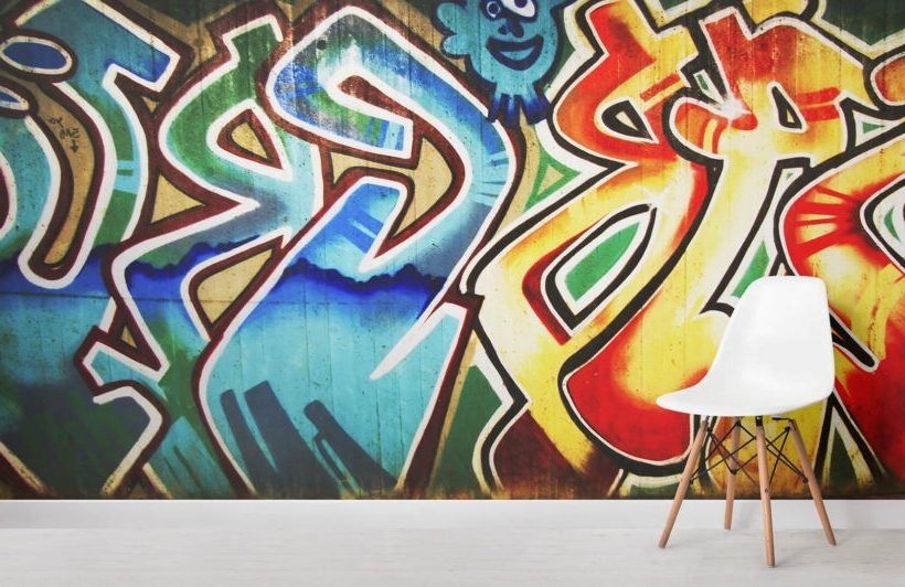 Recent Colourful Abstract Graffiti Wallpaper – Murals Wallpaper For Abstract Graffiti Wall Art (View 13 of 15)