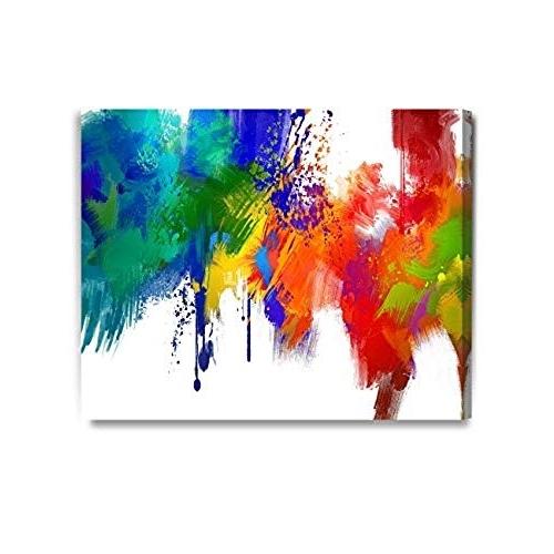 Recent Colourful Abstract Wall Art Regarding Colorful Abstract Wall Art: Amazon (View 12 of 15)