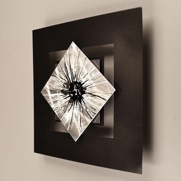 Recent Contemporary Metal Wall Art Sculpture Inside Sculpture Art Painting Silver Modern Abstract Pattern Home (View 7 of 15)