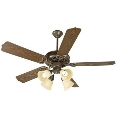 Recent Craftmade K10430 Outdoor Patio 4 Light 52 Inch Outdoor Ceiling Fan Intended For Craftmade Outdoor Ceiling Fans Craftmade (View 15 of 15)