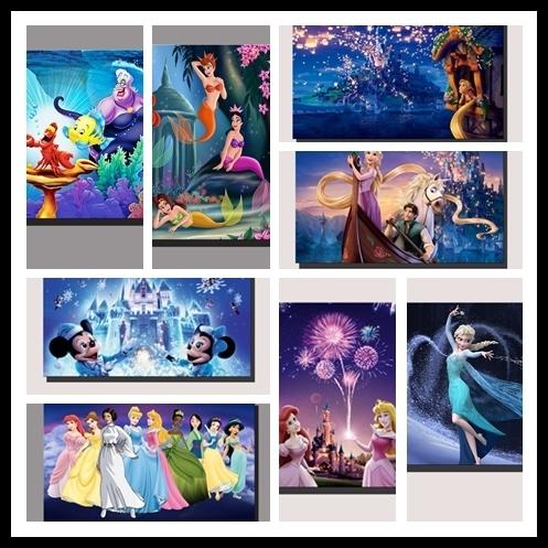 Recent Disney Princesses Cartoon Beautiful Wall Art Poster Stretched Framed Throughout Disney Princess Framed Wall Art (View 5 of 15)
