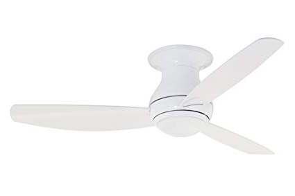 Recent Emerson Ceiling Fans Cf152Ww Curva Sky 52 Inch Modern Low Profile With Low Profile Outdoor Ceiling Fans With Lights (View 14 of 15)