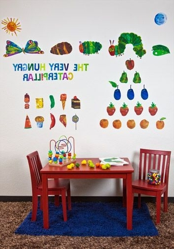 Recent Eric Carle's The Very Hungry Caterpillar Peel & Place Wall Stickers Inside Very Hungry Caterpillar Wall Art (View 7 of 15)