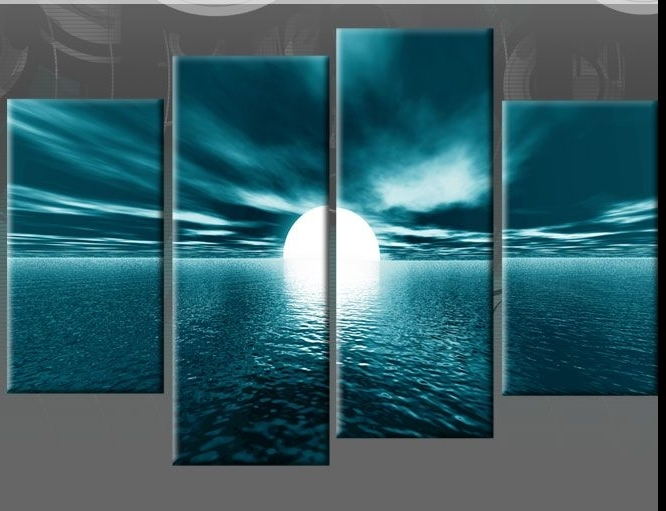 Recent Faaadeedcc Canvas Picture Walls Canvas Pictures Stunning Teal Wall With Large Teal Wall Art (View 4 of 15)