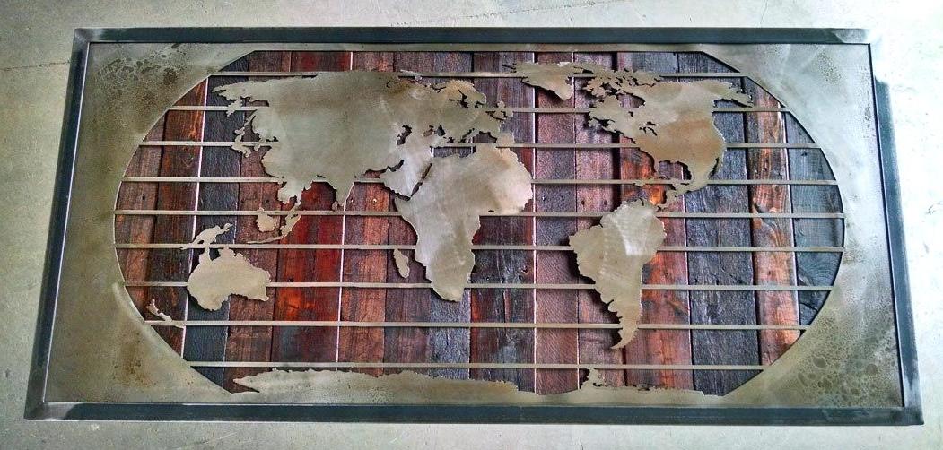 Recent Framed World Map Wall Art Regarding World Map Wall Art Framed Framed Metal Wall Art Prepossessing Wall (View 3 of 15)