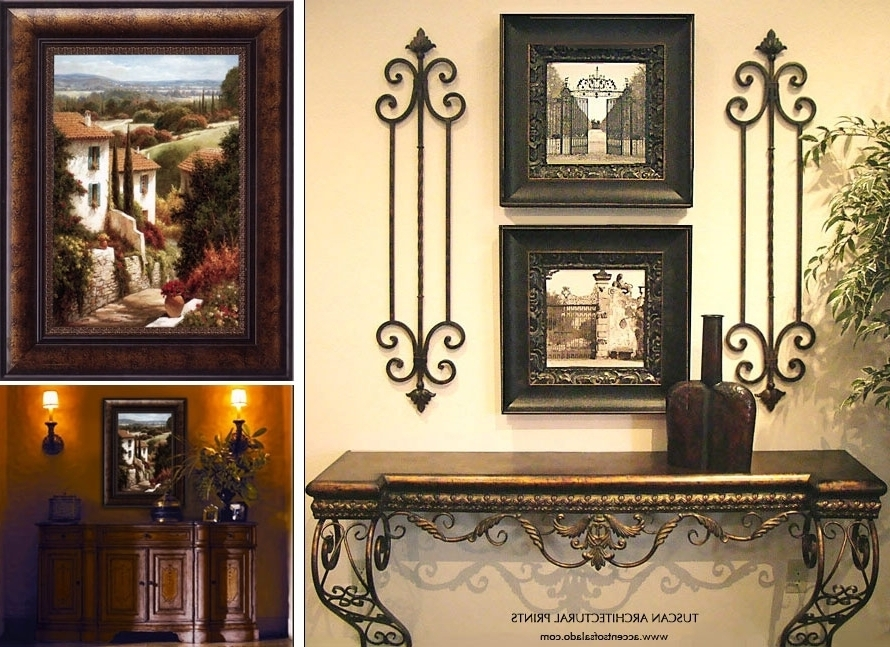 Recent Framed Wrought Iron Wall Art Fair Tuscan Style Wall Decor 2 Set Of Intended For Tuscan Wrought Iron Wall Art (View 13 of 15)