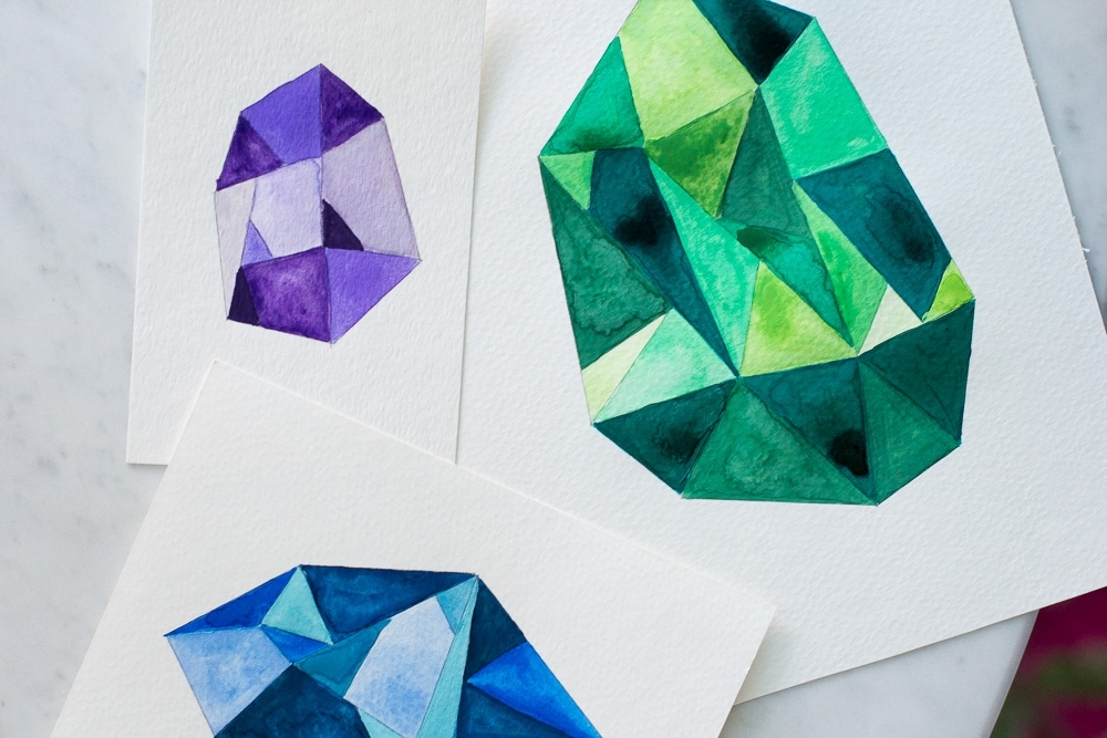 Recent Gemstone Wall Art Inside Diy Faceted Gemstone Wall Art — Wandeleur (View 15 of 15)