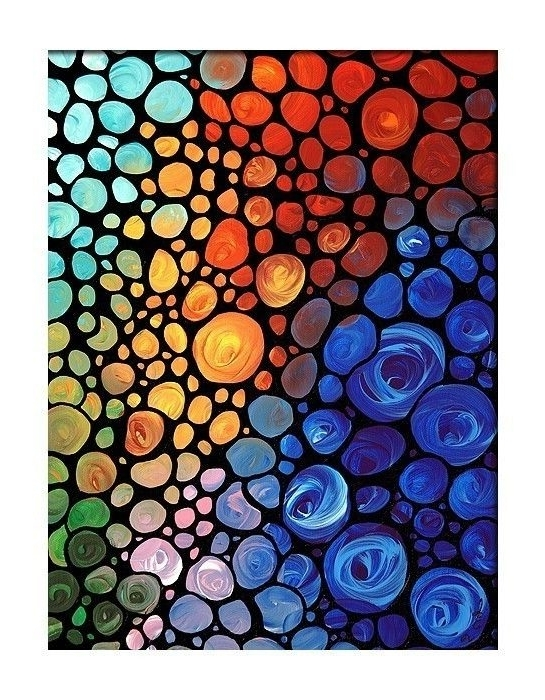 Recent Giclee Abstract Wall Art Colorful Print Mosaic (View 14 of 15)