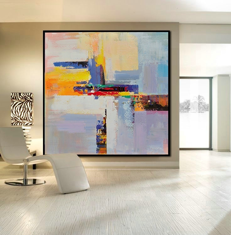 Recent Handmade Large Contemporary Art Canvas Painting, Original Art Intended For Acrylic Abstract Wall Art (View 3 of 15)