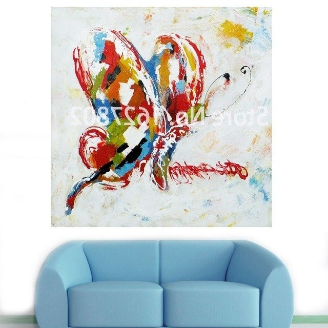 Recent Handmade Modern Abstract Decorative Animal Picture Abstract Regarding Abstract Butterfly Wall Art (View 2 of 15)