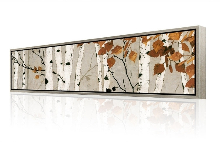 Recent Horizontal Metal Wall Art Intended For Horizontal Metal Wall Art Breathtaking Designs The White Birch (View 6 of 15)