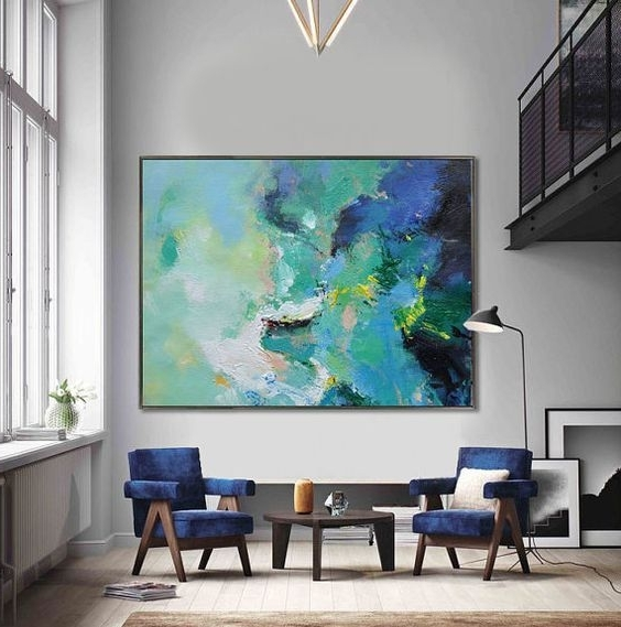Recent Huge Abstract Wall Art For Handmade Extra Large Contemporary Painting, Huge Abstract Canvas Art (View 2 of 15)