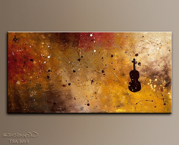 Recent Large Abstract Art For Sale Allegro Con Brio – Music Paintings For In Abstract Music Wall Art (View 15 of 15)