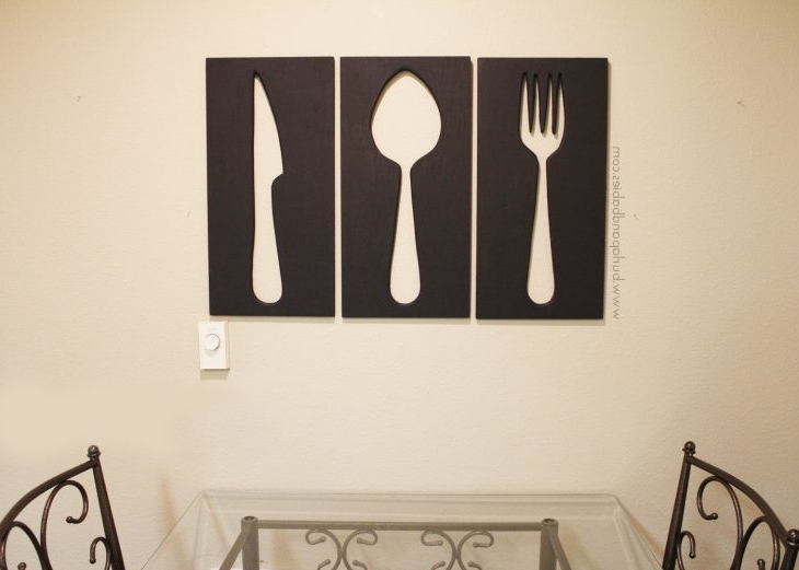 Recent Large Utensil Wall Art Pertaining To How To Make Giant Utensil Wall Art (View 12 of 15)
