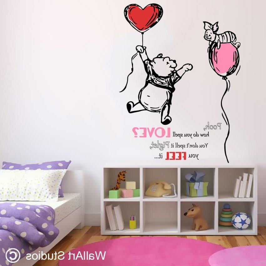 Recent Love Wall Art Stickers: Love Wall Art Designs South Africa Regarding Winnie The Pooh Vinyl Wall Art (View 7 of 15)