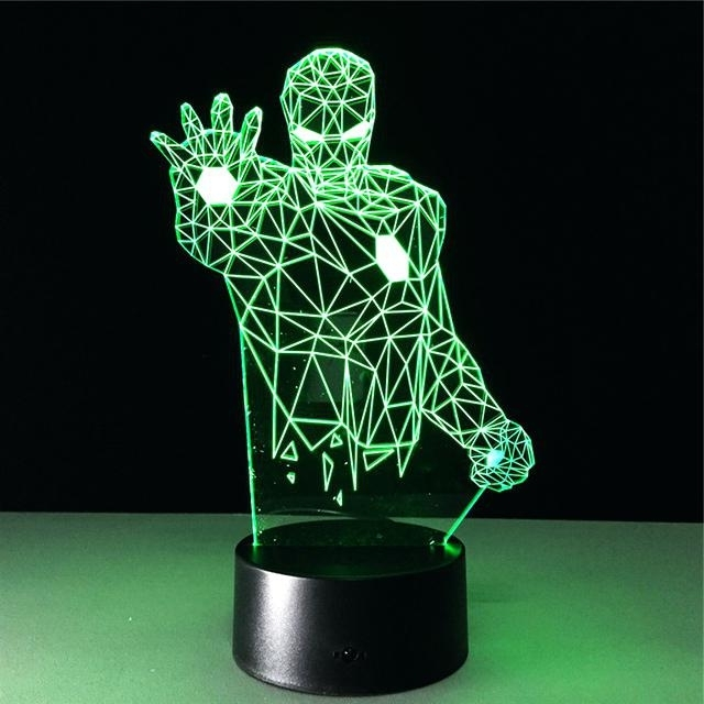 Recent Marvel 3D Lights Marvel Wall Art Night Lights Bundle Iron Man Hulk With Regard To 3D Wall Art Night Light Australia (View 2 of 15)